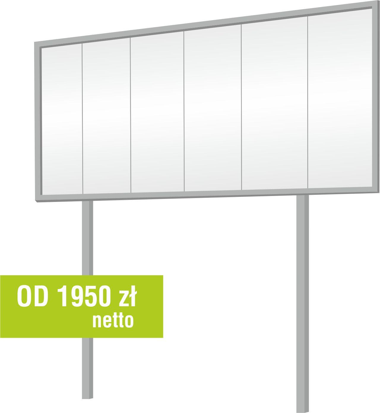 billboard wkopywany Euro 12 Zielona Góra