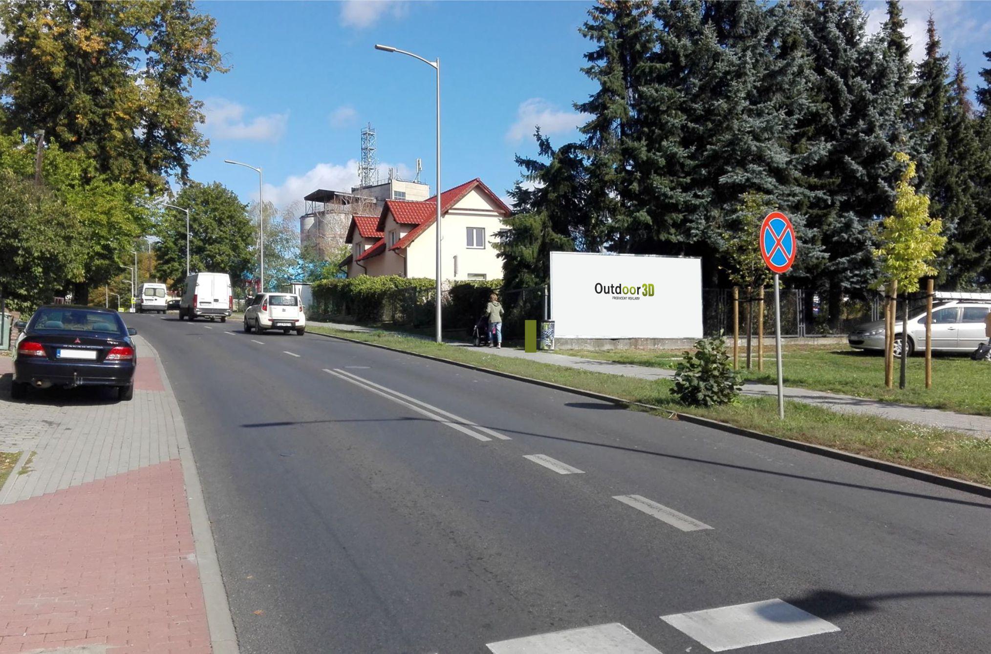 ul. Kożuchowska Zielona Góra billoard do wynajęcia